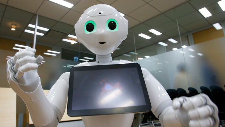 Pepper, SoftBank's friendly robot, offers ardent attention