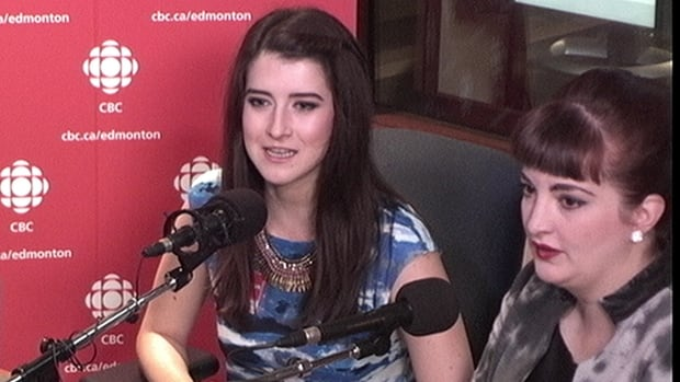 Edmonton Youth Council member Marina Banister (left) was joined by Cristina Stasia, a faculty lecturer from the University of Alberta (right) on Edmonton AM Monday morning to discuss the social media backlash against a recommendation that Edmonton City Council adopt a meat-free snack platter.