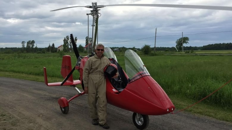 B C  man flies gyrocopter 30 hours across Canada | CBC News