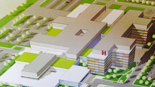 The new mega-hospital will stand 10 storeys tall and have 500 beds.