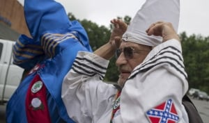 USA-Ku Klux Klan Aug 2014 Virginia clansmen