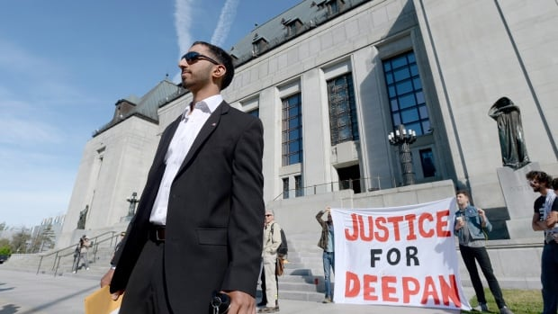 Deepan Budlakoti will now have to report to the Canada Border Services Agency only every six months instead of every three.