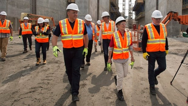 Ontario Premier Kathleen Wynne toured the Muskrat Falls construction site on Tuesday.