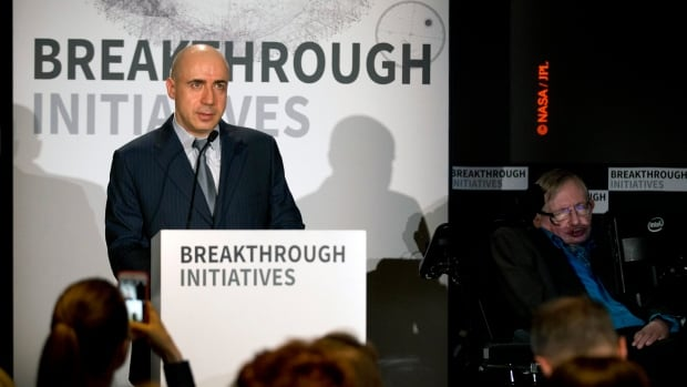 """Russian tech entrepreneur Yuri Milner (left) and renowned physicist Stephen Hawking   are pushing the search for extraterrestrial life into higher gear. The pair said Monday the $100 million """"Breakthrough Initiatives"""" program funded by Milner will harness computer power as never before in a search of the heavens."""