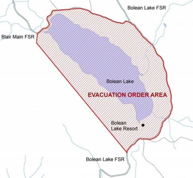 Bolean Lake evacuation order