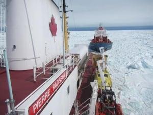 CCGS Pierre Radisson in sea ice