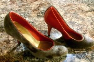 Nicole Camphaug sealskin shoes
