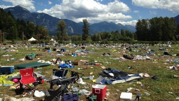 Festivalgoers had until Monday at 2 p.m. to clean up their campground and leave, but this is what they left behind.