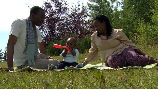 Dimeji and Deborah Tawose arrived in Calgary with their children in mid-July under the federal skilled worker program. The baby was born in the U.S. while the Canadian paperwork was still processing and he never received a Canadian visa.