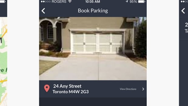 The Rover parking app matches drivers with parking by the hour on private property. Developers say it could ease congestion but a city bylaw officer said it could also run afoul of existing bylaws.