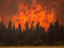 Wildfire-La Ronge, Sask, July 5, 2015