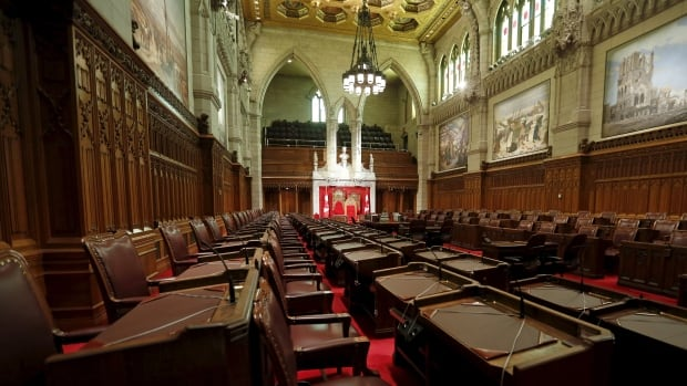 The Senate chamber on Parliament Hill.