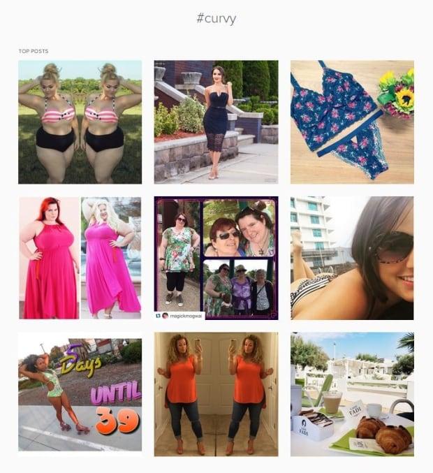 Instagram #Curvy