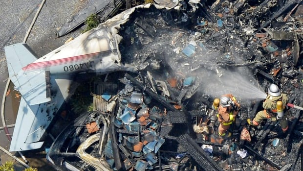 A small plane crashed into a quiet neighborhood in Tokyo, leaving three dead.
