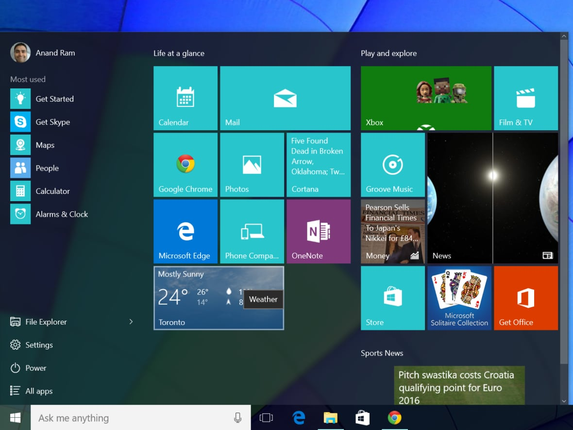 Microsoft's Windows 10: Here's what to expect | CBC News