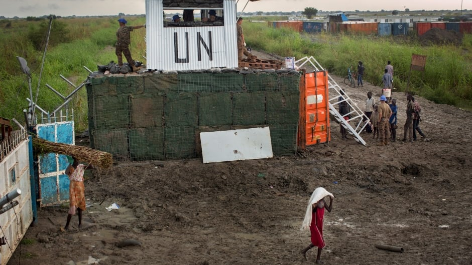 A makeshift camp for the displaced at the United Nations Mission in South Sudan (UNMISS) base in the town of Bentiu, South Sudan. International human rights lawyer Megan Nobert believes she was drugged and raped by a UN contractor on the base, but says authorities have done nothing to investigate.