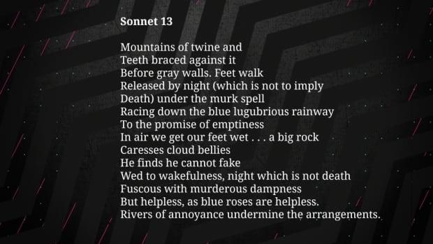 Sonnet 13
