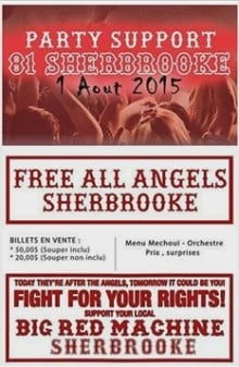 Sherbrooke Hells Angels party