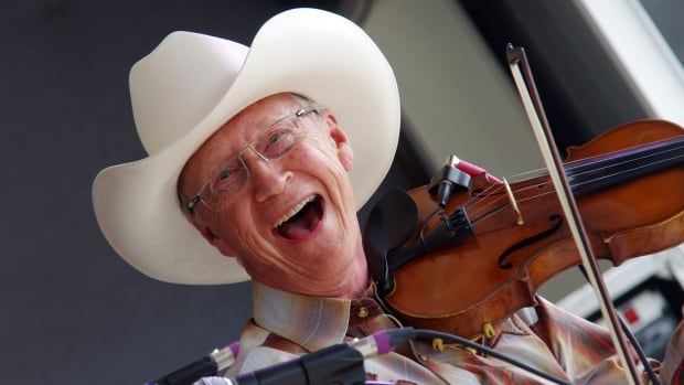 Alfie Myhre performs at the 2014 Blueberry Bluegrass Festival.