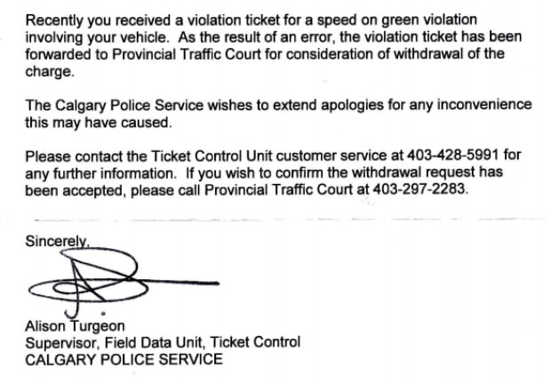 Fake licence plate apology from Calgary police