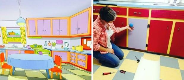 Simpsons kitchen floor comparison