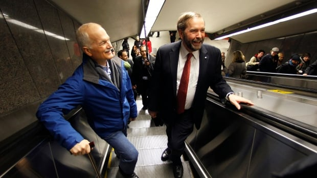 Jack Layton rode the NDP wave in the final week of the 2011 campaign to a historic result. Tom Mulcair needs to prevent that wave from receding, while Justin Trudeau is riding a wave of his own.