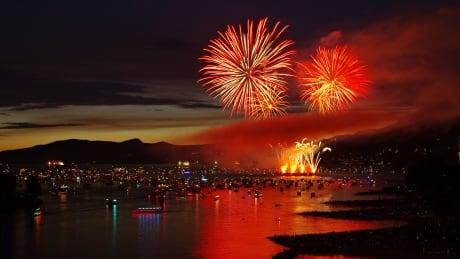 Team Canada fireworks