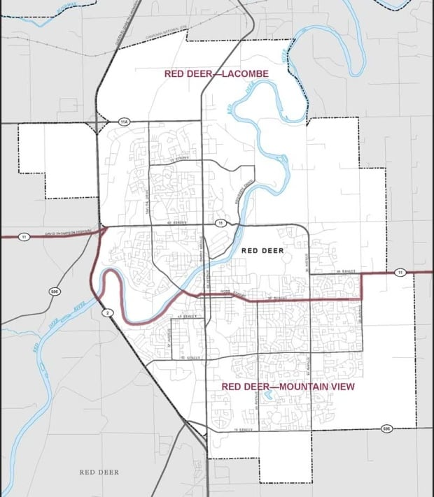 Red Deer ridings for federal election
