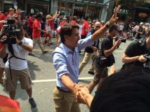 Trudeau at Vancouver Pride