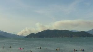 Harrison Lake wildfire