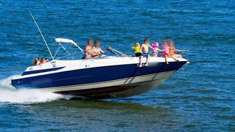 Bow Of A Boat >> Photo Showing Children Sitting On Bow Of Speed Boat In Trois