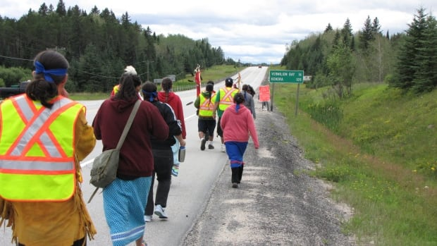 The Anishinaabe Water Walk protesting the Energy East pipeline will cover 125 kilometres of the proposed route between Dryden Ont. and the Manitoba boundary.