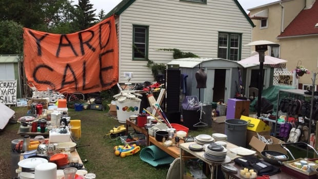 This McKernan property hosted a 'yard sale' neighbours said lasted for months. The city has ordered the owner to clean it up.