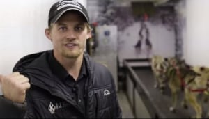 Dallas Seavey and refrigerated dog treadmill