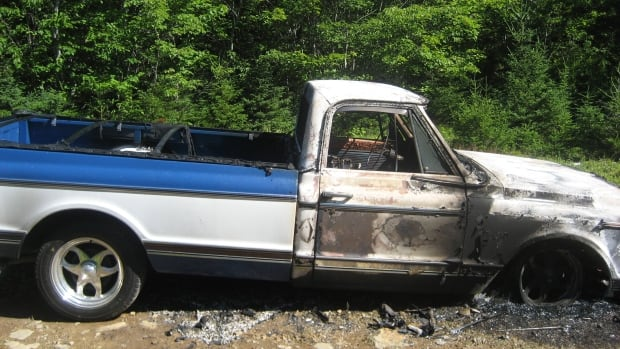 A classic 1971 Chevrolet C10 Super Cheyenne went missing early Wednesday evening. This is the shape it was in when it was found Thursday morning.