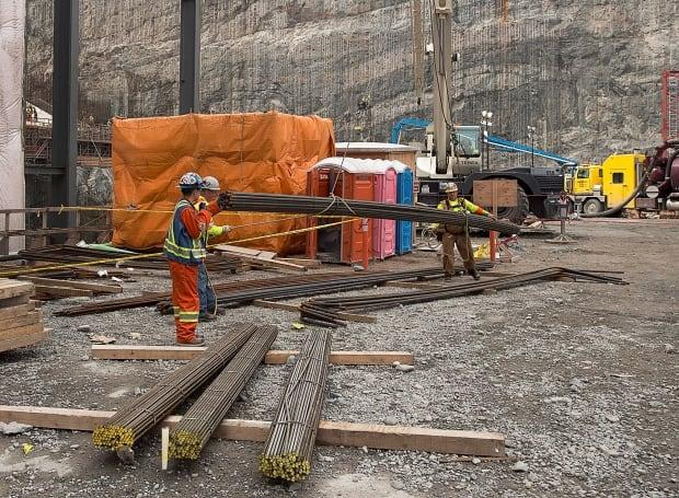 Muskrat Falls construction