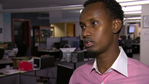 Yahya Samatar was spotted on the side of a road just outside Emerson, Man., on the morning of Aug. 5. He is now in the care of Hospitality House Refugee Ministry in Winnipeg and seeking asylum in Manitoba.