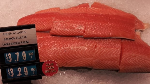 Where fish comes from is key whether it's considered sustainable. This salmon is farmed Atlantic, but grown in a land-based farm, which gets SeaChoice's seal of approval.