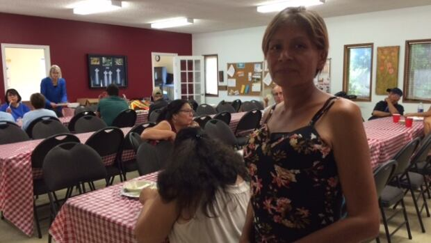 Myrna Abraham at a potluck hosted by the group Women Walking Together at St. Matthew's Anglican Church in Saskatoon's Sutherland neighbourhood.