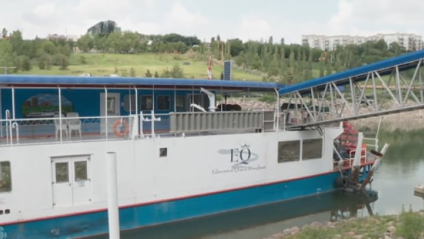 Along with a permit to hold parties on the boat, Edmonton Queen owner Jay Esterer is applying for a building permit to make a boat lift so he can 'bring it out at will.'