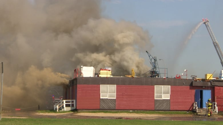 Modular Classroom Moving ~ Fire damaged mill woods school to be ready for students