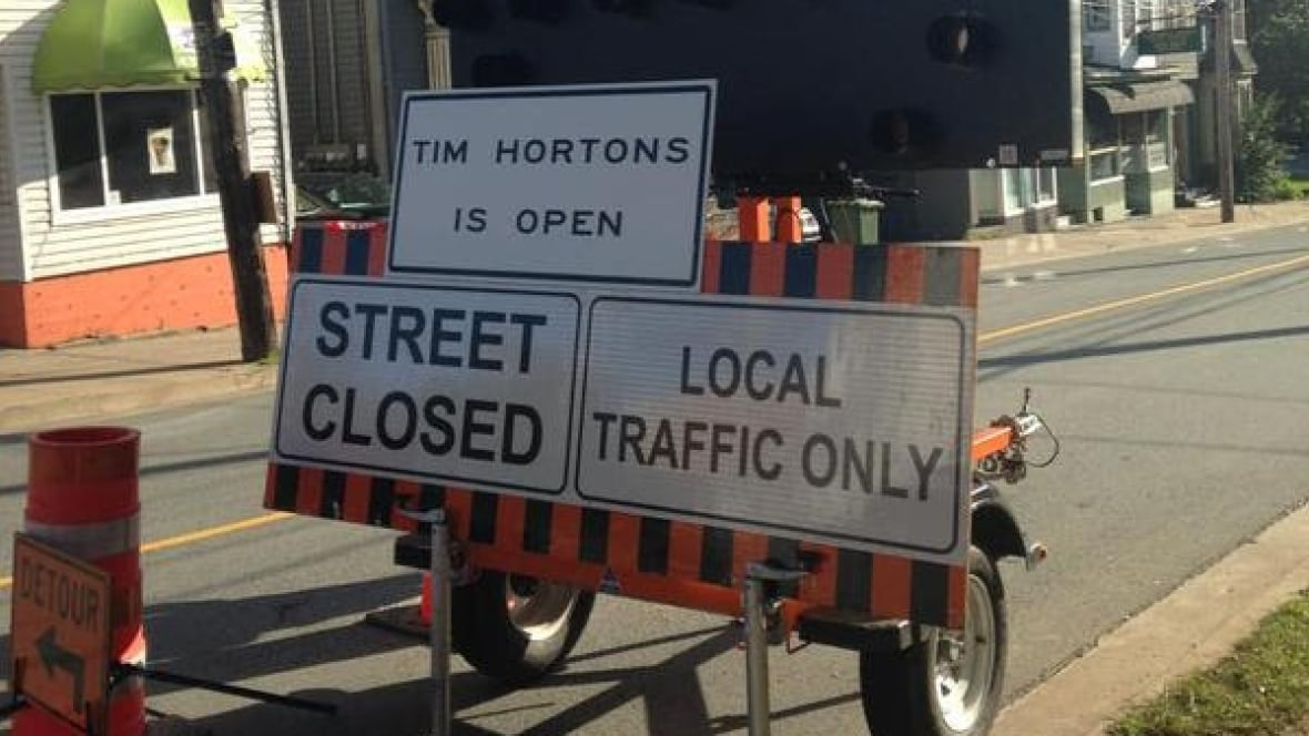 tim hortons traffic sign delights south end halifax. Black Bedroom Furniture Sets. Home Design Ideas