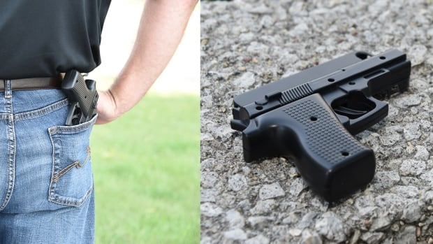 Manitoba RCMP are warning people not to carry replica handgun phone cases after one drew armed officers to Grand Beach over the weekend.