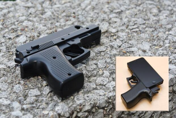 Replica handgun phone case
