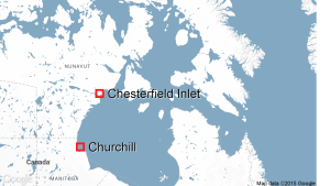 Chesterfield Inlet, Nunavut, map