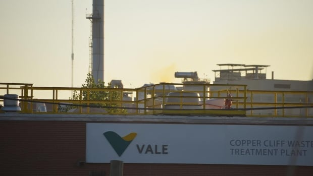 The yellow plume visible Thursday morning above the Vale mining complex in Sudbury, Ont., occurred during maintenance at an acid cooling tower, officials said.