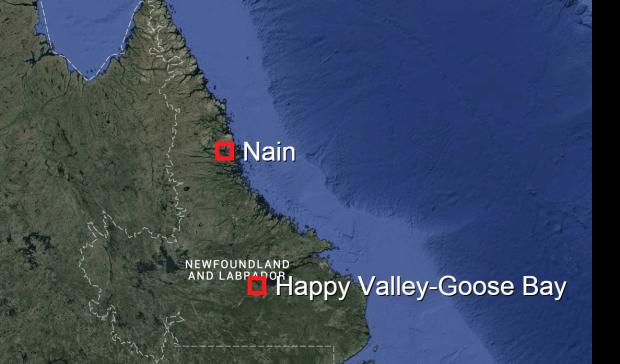 Nain, Happy Valley-Goose Bay map