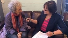 Margaret Atwood with Bernice Hillier at Writers at Woody Point festival