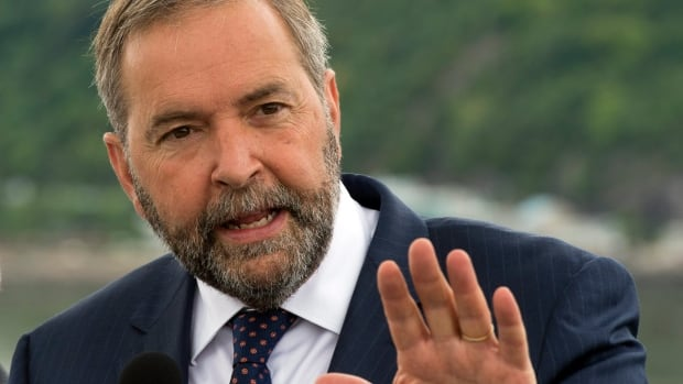 Tom Mulcair's New Democratic Party is still ahead in the polls.