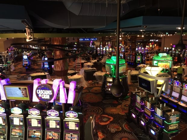 Inside the new casino, you can see the slot machines